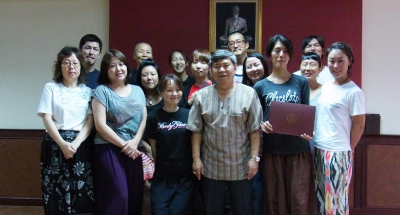 日本語クラスの集合写真